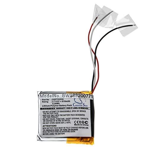 vhbw batería Compatible con JBL Everest Elite 300, E45BT Auriculares inalámbricos Cascos (610mAh, 3.7V, polímero de Litio)