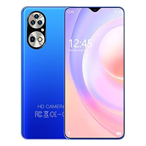 GELEI 5G Smartphone Libre, Pantalla Ultra Smooth, batería masiva de 6000m, cámara con 48MP y Modo Nocturno, Dual Sim, NFC, 6+128GB, Pantalla de 6,7',Azul