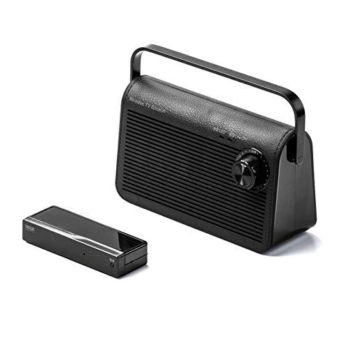サンワダイレクト 手元スピーカー テレビ用 ワイヤレス 電波干渉しにくい920MHz帯 最大30m 充電/常時給電可能 ブラック 400-SP083BK