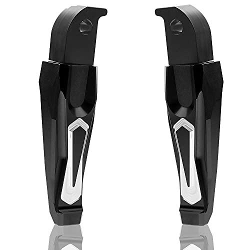 reposapies Moto Pegadores de pasajeros Traseros de la Motocicleta Pedales de Pedales para Tmax 500...
