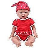 IVITA Ganzkörper-Silikon Reborn Babypuppe realistisch neugeborenes Baby Doll echte Baby Doll handgemachte lebensechte Blaue Augen weiche lebendige Baby Doll Mädchen(WG1519-48cm-3791g-Mädchen)