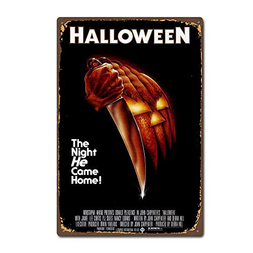 JTY store Vintage Wandkunst Dekor Zeichen Halloween 1978 Horror Film Movie Vintage Home Bar Pub Club Cafe Man Cave Dekor 20CM X 30CM Metal Tin Sign Blechschild WJ0771