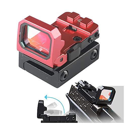 Mira compacta de ponta vermelha reflexiva – mira de mini pistola 3 MOA com suporte RMR para rifle Glock MOS Pistol RMR Cut Slide Shooting Hunting, vermelho com suporte