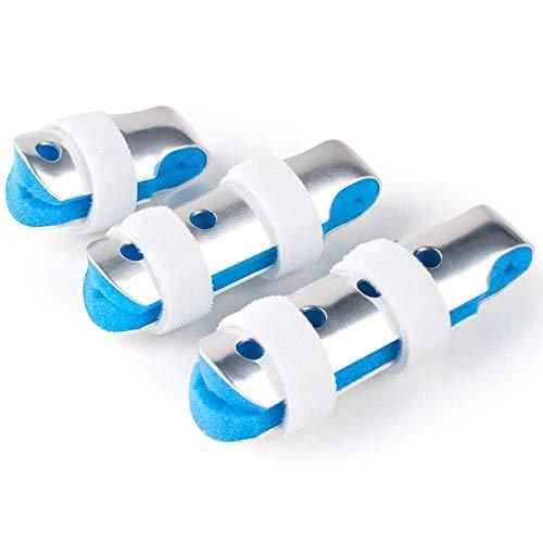Aluminum Finger Splint, Teroys Metal Finger Support Brace for Broken Fingers Straightening Arthritis 3-Size Pack