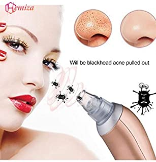 HEMIZA ZT Men's and Women's 4 in 1 Multi-Function Rechargeable Blackhead Whitehead Remover Vacuum Suction Device for Facial Care with Adapter (Colour Assorted)