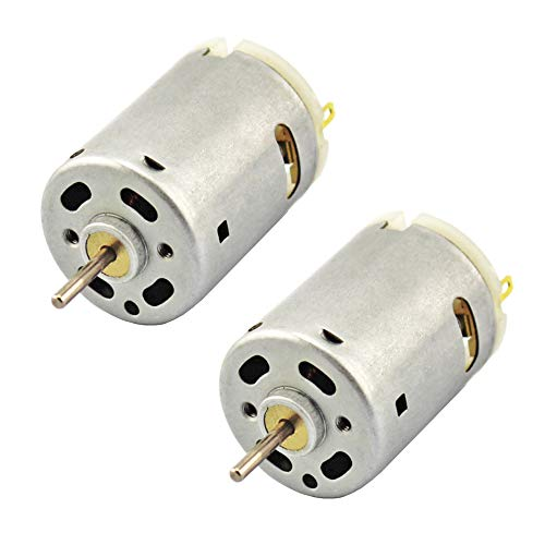 BestTong DC 6-12V 10000RPM Mini DC Motor High Torque Gear Electric 380 Motor for DIY Hobby Toy Cars Remote Control Pack of 2
