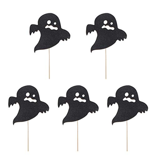 PRETYZOOM - Juego de decoración para tarta de Halloween, diseño de fantasma, para Halloween