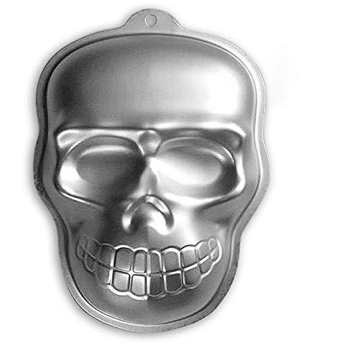 Aluminum 3D 10 Inch Skull Shaped Cake Decorating Mould Tool Baking Pan Tin DIY Baking Tool