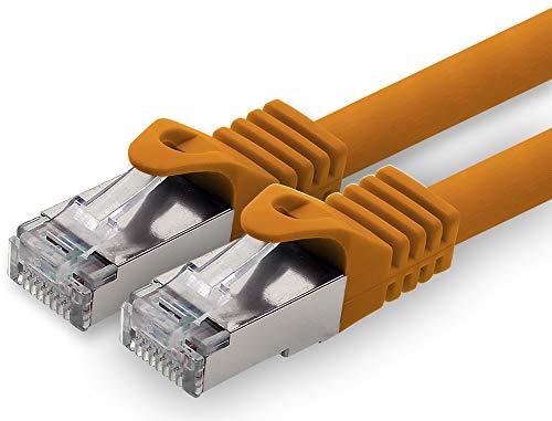 1,0m - Naranja - 1 Pieza - Cat.7 Cable de Red (Set)...
