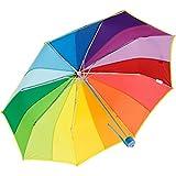 Mini paraguas multicolor de bolsillo, 16 colores del arco iris con 97 cm de diámetro de iX Brella