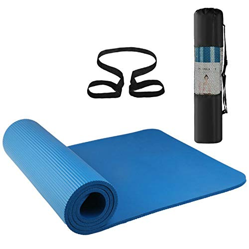 Yhjkvl Esterilla de yoga antideslizante de 72 x 61 cm (tamaño: 186 x 61 cm, color: azul)