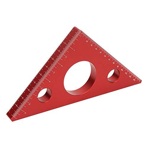 Medidor de medición para carpintería, regla triangular para carpintería de alta dureza, regla triangular de escala precisa en ángulo recto, ayudas especiales para carpintería de bricolaje