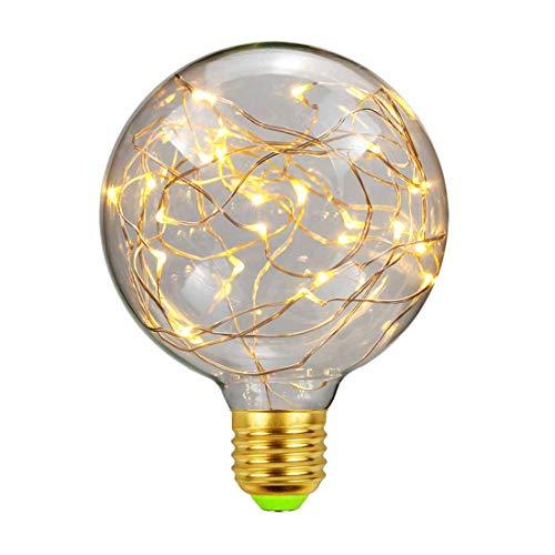 LED Glühbirne, E27 Kupferdraht LED Birne Starry Glühlampen Kreative Dekorative Beleuchtung Warmweiß 2300K für Zuhause Party Festival Urlaub Hochzeit Hauscafés,G95