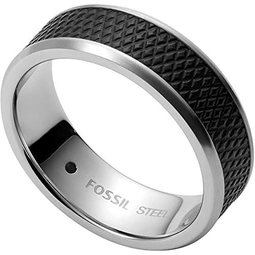 Fossil - , Rings Stainless Steel No Gemstones mens, Black, - JF03727040