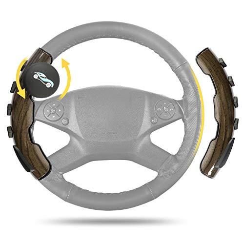 EEEKit Lenkradabdeckung mit Spinner, Universal-Lenkradspinner mit 360 ° Griffgriff, rutschfeste, wasserdichte, geruchlose Abdeckung mit Silikonknopf zur Stressreduzierung für Fast jedes Auto