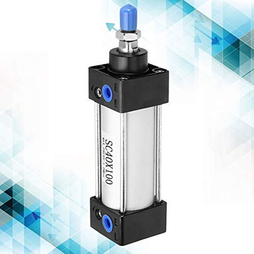 Cilindro neumático Doble actuación 40mm ID mayor eficiencia presión lado componentes neumáticos cilindro de aire para impresión (SC40X100)
