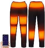 LIUPING Pantalones Calefactables, Smart Heating - Pantalones Eléctricos De Calefacción USB para Hombre Y Mujer para El Cuerpo De Invierno para Esquiar Acampar (Color : Black, Size : XX-Large)
