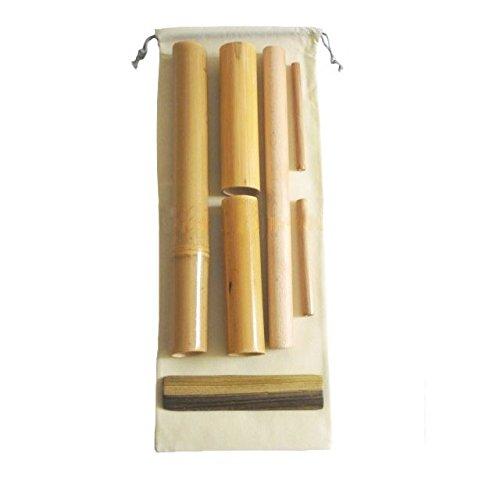Kit 7 bambuterapia - cañas de bambú para masaje corporal.