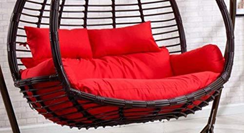 Oscilación Colgante Egg Chair Pads, Huevo Doble Hamaca Silla de ratón for Cubierta Jardín Colgante al Aire Libre Silla de la Cesta, 110x150cm (Color: Verde) (sin Silla) WKY (Color : Red)