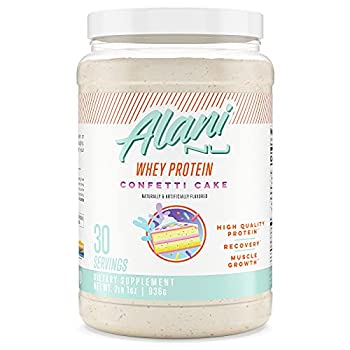 Alani Nu Whey Protein Powder 23g of Ultra-Premium Gluten-Free Low Fat Blend of Fast-digesting Protein Confetti Cake 30 Servings