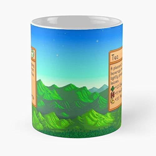 Valley Tea Stardew Best Taza de café de cerámica de 325 ml