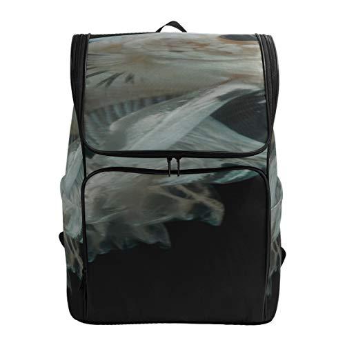 Blue Siamese Fighter Designer Bookbag College Bags For Men Womens Daypack Backpack Best Bookbag Fits 15.6 Inch Laptop And Notebook Men Bag Casual Hiking Daypacks For Men