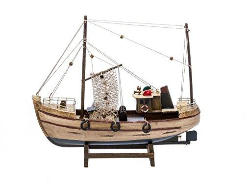 Kutter Fischerboot Fischkutter Schiffsmodell Holzschiff Schiff 30cm kein Bausatz