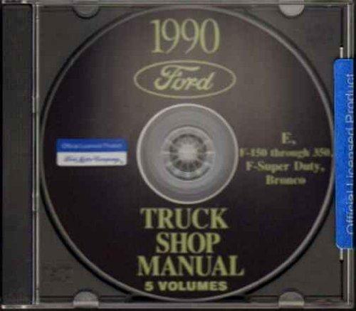 1990 FORD PICKUP BRONCO VAN REPAIR SHOP MANUAL CD Super Duty F150 F250 F350