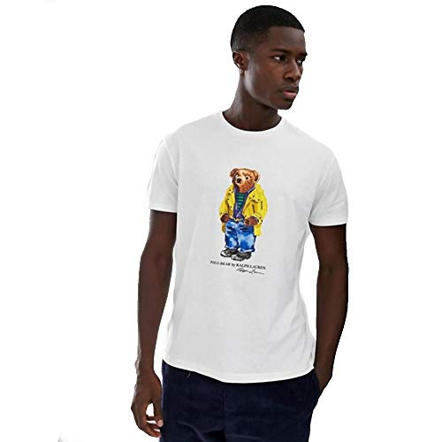 Polo Ralph Lauren T-Shirt Custom Slim fit Polo Bear (White, L)