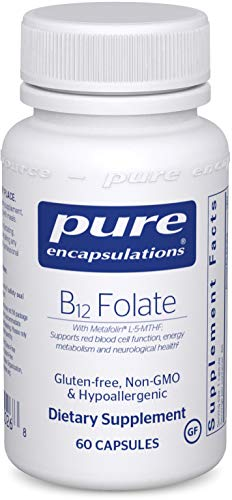 Pure Encapsulations B12 Folate | Energy Supplement to Support Emotional Wellness, Nerves, and Cognitive Health* | 60 Capsules