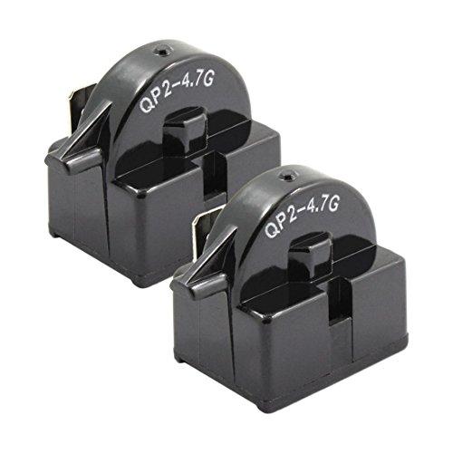 Kuinayouyi QP2-4.7 Startrelais, Kühlschrank, PTC-Ohm, 1-polig, 2 Stück