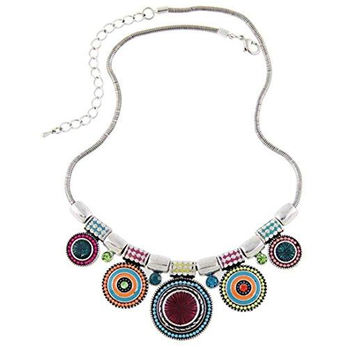 SMARTLADY Mujeres Moda Collar de Étnica Vintage Colgante Gargantilla