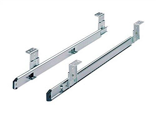 1 Paar Kugelauszug KA 3434, belastbar 20kg, f. Tastaturauszug, Schubkasten, Tablar, chromatiert 300 mm 077800