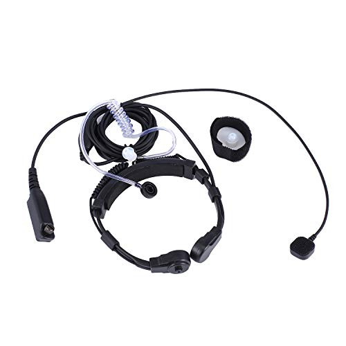 FairytaleMM Retractable Throat Control Finger PTT Throat MIC Akustikschlauch Ohrhörer Headset für SEPURA Radio STP8000-schwarz