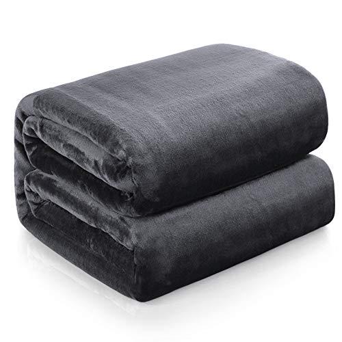 Familybox Kuscheldecke Grau Weiche Plüsch Decke Warme Fleecedecke, Kuschel Wohndecken Kuscheldecken, Decken/Sofa Decke/Wohn Decke/Mikrofaser Couch Decke/Samt Decke (Dunkelgrau, 150 x 200 cm)