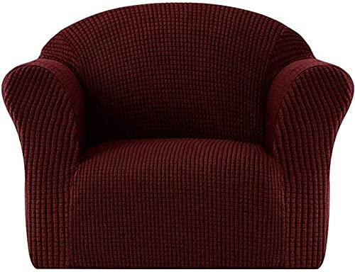 ADIS Funda de sofá de alta elasticidad para niños, tamaño mini, funda de sofá de 1 asiento, funda de sofá suave, funda de sofá para niños/niños pequeños/bebés-rojo vino