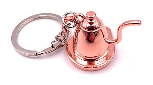 Onwomania Schlüsselanhänger Teekanne Tee Antik Bronze Anhänger Keychain