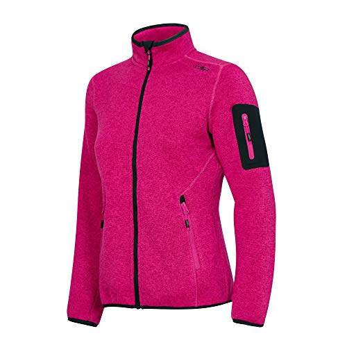 C.P.M. Giacca Knit Tech 3h14746, Donna, Bouganville-Antracite, 50