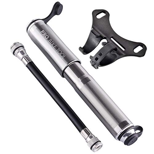 PRO BIKE TOOL Mini Bike Pump Fits Presta and Schrader - High Pressure PSI - Reliable, Compact & Light - Best Quality & Performance - Bicycle Tire Pump for Road, Mountain and BMX Bikes