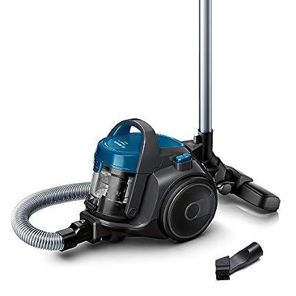 Bosch Aspiradora sin Bolsa Clean´n Serie 2 BGC05A220A, aspiradora de Suelo, Boquilla para parqué, alfombras, Azulejos, Filtro higiénico, Cable Largo, silencioso y Ligero, 700 W, Color Azul