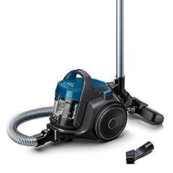 Bosch BGC05A220A Clean´n beutelloser Bodenstaubsauger (platzsparend, einfaches Entleeren, sehr leicht, 700 Watt) grau