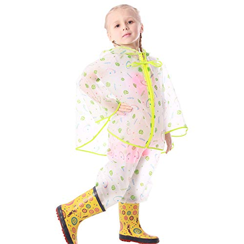 QHGao Regenjas voor kinderen, twee stijlen, tas mantel poncho split, diverse mogelijkheden, voor buiten, waterdicht, licht ademend