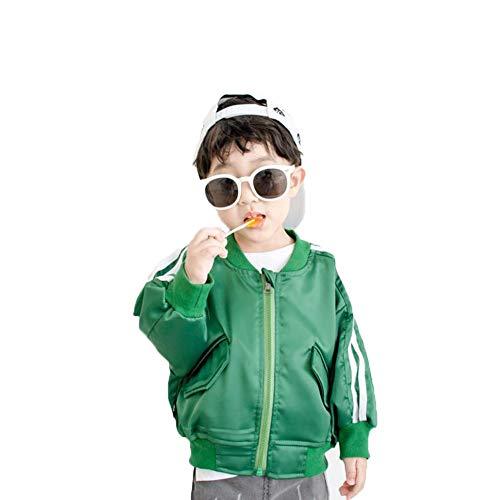 Jungenjacke Normallack Freizeitsport Jacke Baseballuniform für 3-8 Jahre Grün
