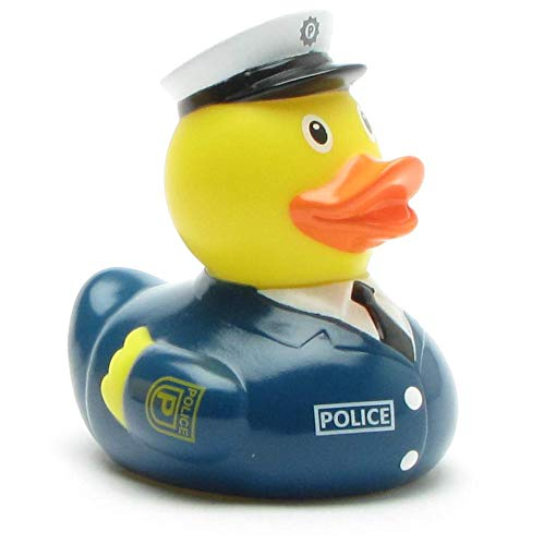 DUCKSHOP I Badeente Polizist I Quietscheente I L: 7,5 cm