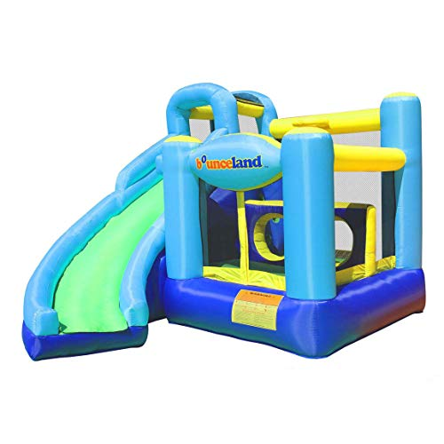 Bounceland Ultimate Combo Inflatable Bounce House, 12 ft L x 10 ft W x 8 ft H, Basketball Hoop, Obstacle Wall, Fun Tunnel, Slide and Bounce Area for Kids
