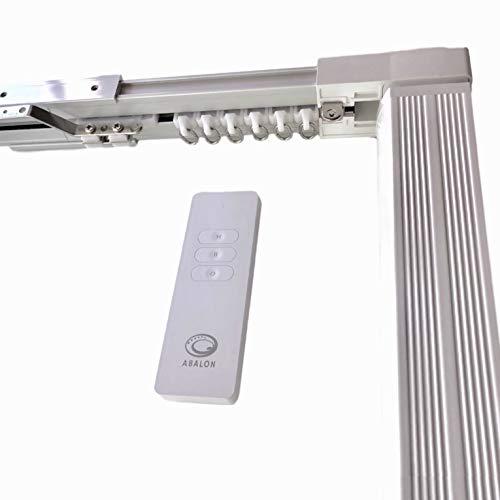 ABALON Riel Motorizado para Cortinas, de 1 a 6 m, Motor WiFi Compatible con Alexa Google Home y App, Smart Home, con Mando a Distancia, Aluminio, Riel Eléctrico, Cortinas Automáticas Motorizadas