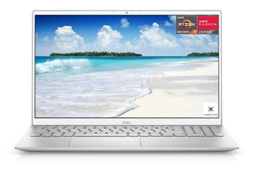 2021 Newest Dell Inspiron 5000 Laptop, 15.6 FHD LED-Backlit Display, AMD Ryzen 7 4700U, 32GB DDR4 RAM, 2TB PCIe SSD, HDMI, Webcam, Backlit Keyboard, WiFi, Bluetooth, FP Reader, Win10 Home, Silver