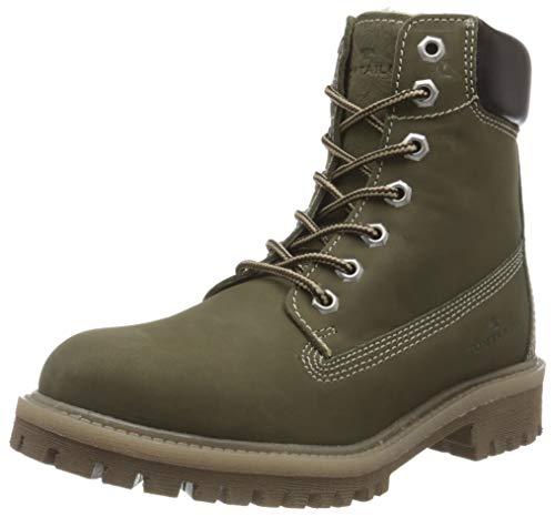 Tom Tailor Womens 9099601 Mid Calf Boot Bootie Boot, Khaki, 5.5 UK (38 EU)