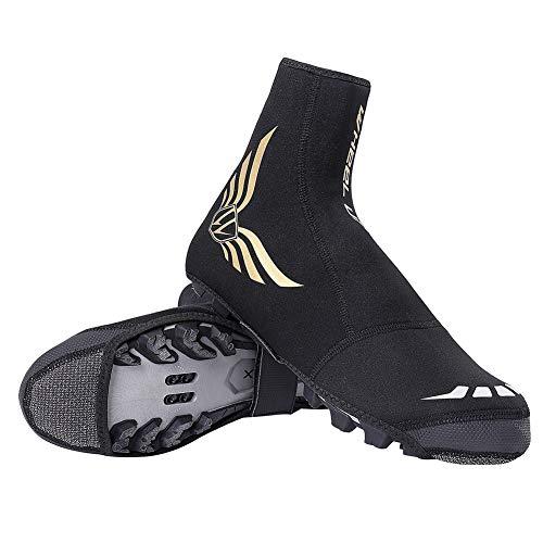 Lesrly-Cycle Couvre-Chaussures de Cyclisme, matériaux Confortables et durables Chaussures à Haute élasti, Chaussures imperméables réfléchissantes verrouillables en Haut pour Une Coupe, XL