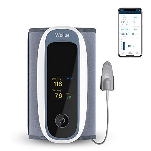 Blutsauerstoffmonitor, automatische Bluetooth-Blutdruckmessgeräte für den Heimgebrauch, Fernbedienungs-Gesundheitsmonitor, Oberarm-Blutdruckmanschette Große Manschette, APP für iOS Android